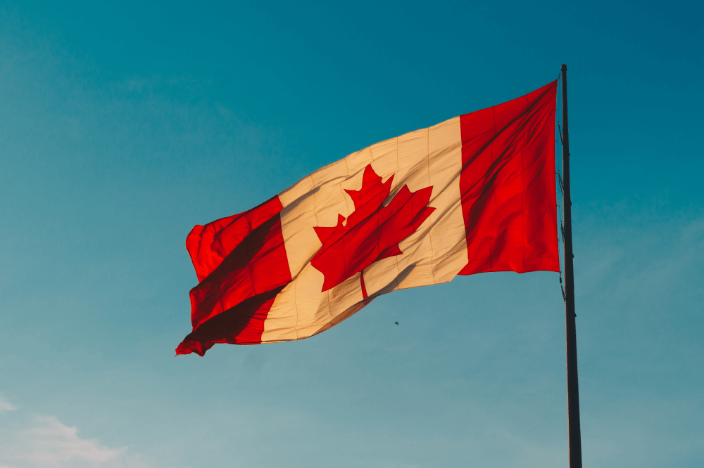 canadian copyright law flag
